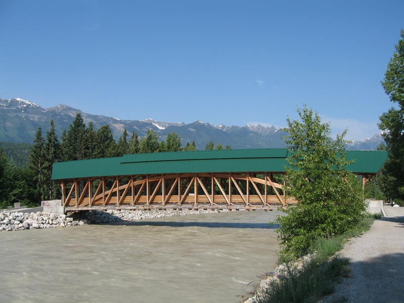 The Bridge over the Kicking Horse River